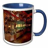 3dRose Danita Delimont - Lamps - Japan, Kyoto. Interior of Shinto shrine. - 15oz Two-Tone Blue Mug (mug_225855_11)