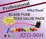 US Grade 90 PCS Professional ATO Blade Car Truck Fuse Kit Set Assorted 3A, 5A, 7.5A, 10 A, 15 A, 20 A, 25 A, 30 A, 40A w/ Add-A-Circuit Holder ATO-90H