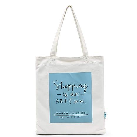 Bolsa de Lona - Material de algodón de Mujer Lavable Adecuado para Comprar Ordenador portátil Libros