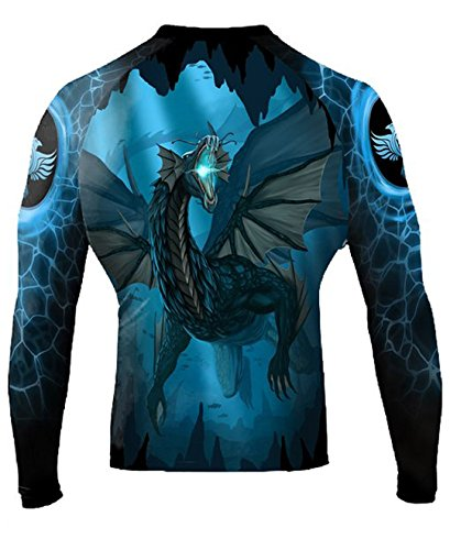 Raven Fightwear Men's Water Dragon Rash Guard MMA BJJ Black