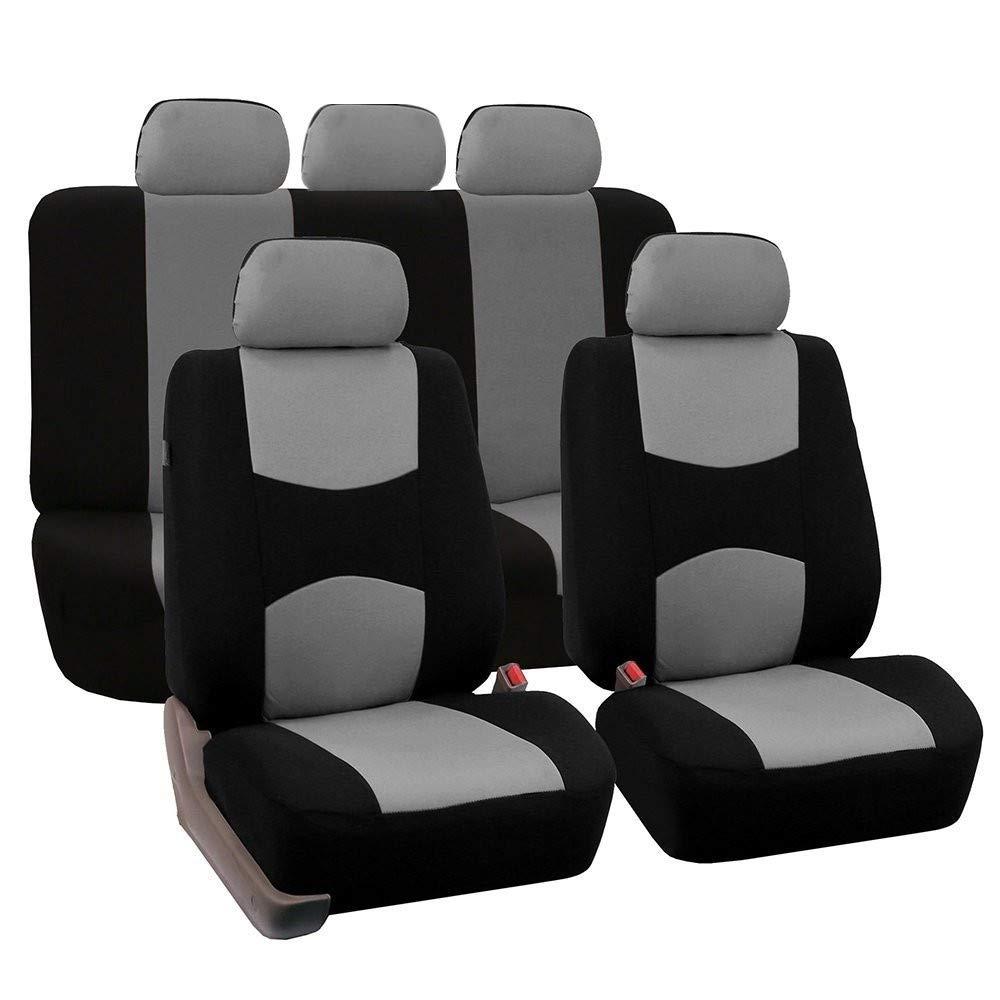 WANGLEISCC Autositzbezug Set Universal Cars Sitze Protector Fell Kissen f/ür Frauen zur/ück Tesla Modell 3 Auto Stuhlabdeckung LKW