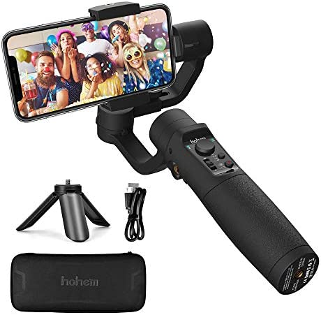 Smartphone Gimbal Stabilisator - Hohe Stabilizer mit Sportmodus Zeitrafferaufnahme Live Videoaufnahme Vlog, 3600mAh Akku, Wasserdicht