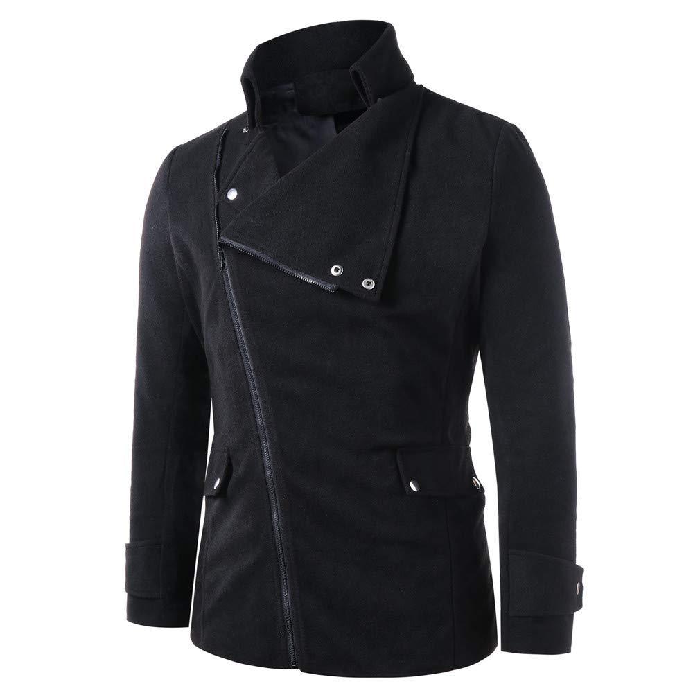 Hommes Hiver Veste Zippée à Double Boutonnage Cardigan Tricoté Manteau à Manches Longues BaZhaHei