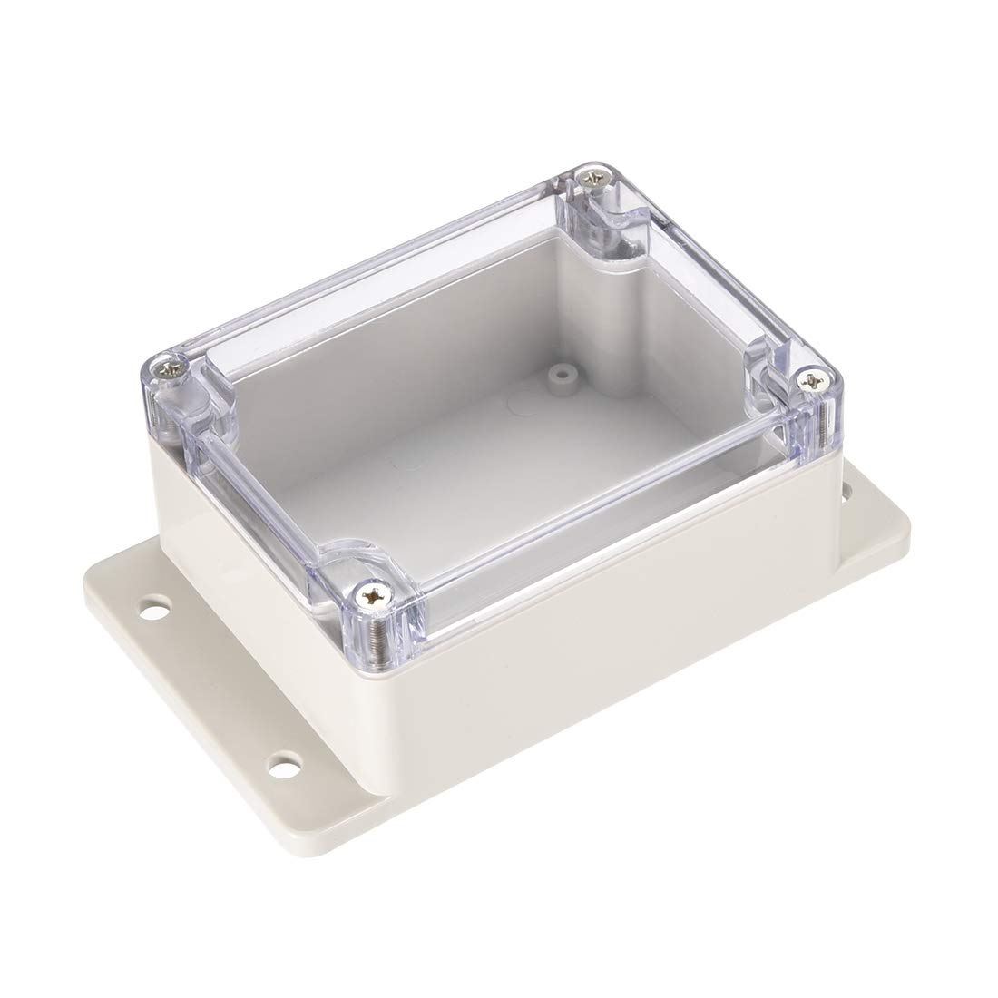 uxcell 115mmx90mmx56mm(4.5x3.5x2.2) ABS Junction Box Universal Project Enclosure w PC Transparent Cover a17031600ux1138