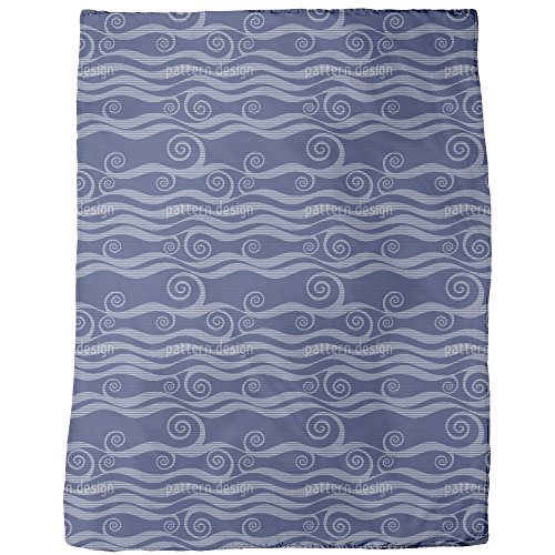 Waves And Twirls Blanket: Large by uneekee