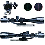 IRON JIA'S 6-24×50 AOEG Riflescopes Green Red Dot & GREEN Laser Sight Combo Reticle Airsoft Holographic Optical Sight Hunting
