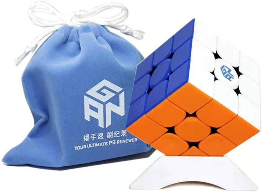 Black OJIN Ganspuzzle GAN356 X Numerical IPG Speed Cube 3x3 Gan 356 X Speed Cube Puzzle with One Cube Bag and One Cube Tripod