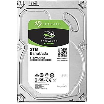 Seagate 3TB BarraCuda SATA 6Gb/s 64MB Cache 3.5-Inch Internal Hard Drive (ST3000DM008)