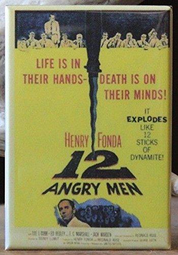 12 Angry Men Movie Poster - Fridge / Locker Magnet. Henry Fonda