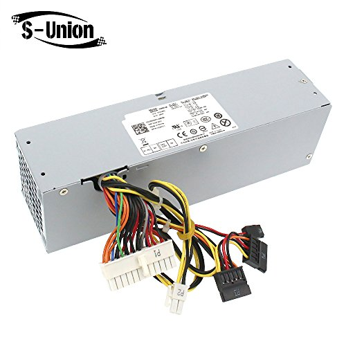 S-Union 240W Power Supply Unit for Dell OptiPlex 390 790 960 990 3010 9010 Small Form Factor System SFF H240AS-00 H240AS-01 H240ES-00 D240ES-00 AC240AS-00 AC240ES-00 L240AS-00 3WN11 PH3C2 2TXYM 709MT (Optiplex 790 Power Supply)