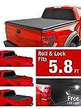 bak ram 1500 tonneau cover - Premium Roll Up Truck Bed Tonneau Cover 2009-2018 Dodge Ram 1500 without Ram Box| Fleetside 5.8' Bed