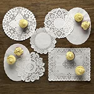 Lakeland Decorative Paper Table Doilies Assorted Bumper Pack x 120 (6 Designs) by Lakeland