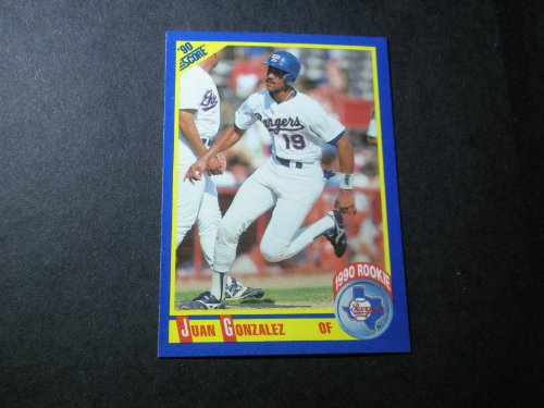 1990 Score Mlb Rookie Card - Juan Gonzalez 1990 Score MLB Rookie Card #637 (Texas Rangers)