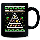 Four Main Food Groups Of Candy Ugly Christmas Sweater - Mug