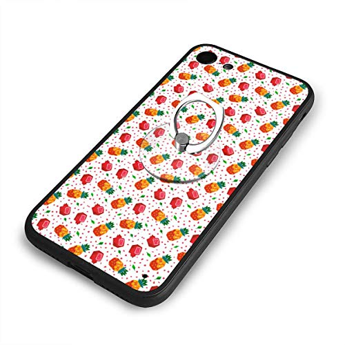 iPhone 6/6s Plus Case Red Pineapple and Pomegranate Gifts 360 Degree Rotating Ring Kickstand Case Shockproof Anti-Scratch Impact Protection Function for iPhone 6/6s Plus