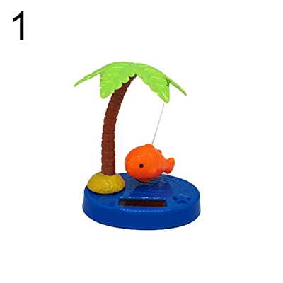 Kukakoo Plush Cute PillowToys丨Solar Powered Dancing Swing Coconut Tree Fish Home Car Ornamnet Decoration Gift - Orange ,Kindergarten Gift, Gift for Kids/Couples/Friends: Toys & Games