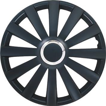 Autostyle Set Spyder 17 Negro - Tapacubos (4 unidades)