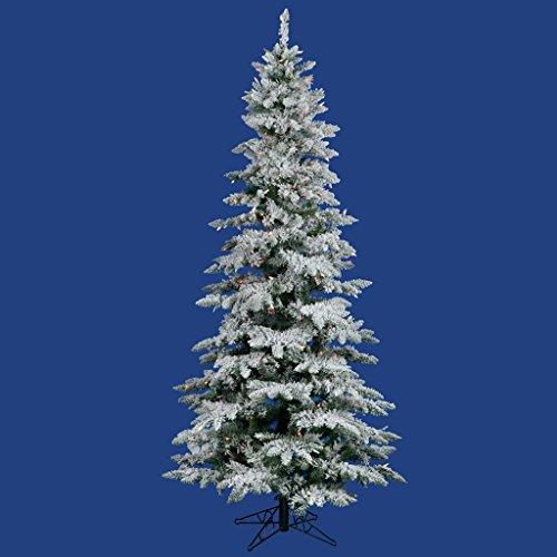 Vickerman 12 ft. Flocked Slim Utica Fir Multi LED Christmas Tree (Flocked Utica Tree)