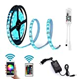 LDH Smart LED Light Strip - RGB LED Strip Light Work With Alexa, Google Home, IFTTT, Wifi Wireless Smart Phone Controlled - LED Strip Lights 5m 150LEDs Full Kit with Remote and Power Supply