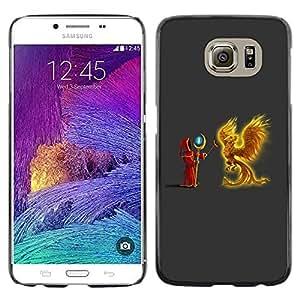 Paccase / Dura PC Caso Funda Carcasa de Protección para - Fire Eagle Bird Fairytale Wizzard Witchcraft - Samsung Galaxy S6 SM-G920