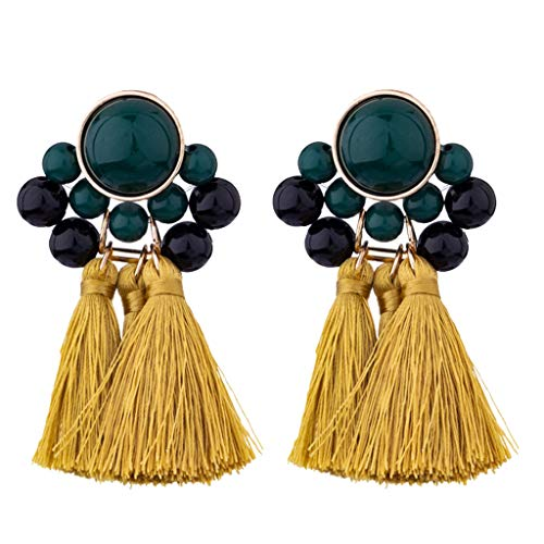 Earrings Vintage Inlaid Rhinestone Fringed Plush Ball Earrings Pendant Ladies Jewelry