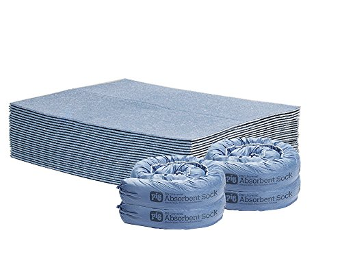 - New Pig HVAC Unit Water Leak Absorbency Kit - Includes 4 Small Absorbent Socks & 25 Super Absorbent Water Pads