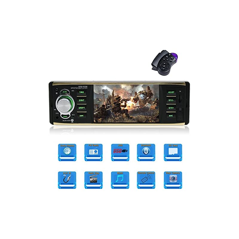 4.1 Inch single Din Car Stereo with Blue