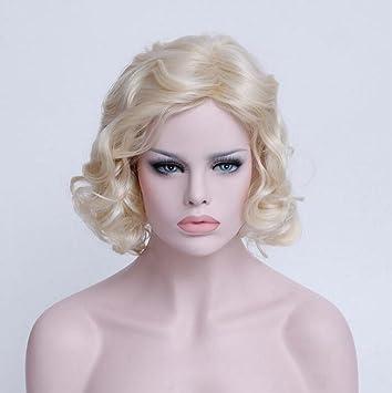 Fa Pelucas de Pelo Rizado de Oro de Las Mujeres, Pelucas Naturales, de Moda