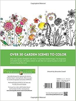 Amazon Creative Haven Whimsical Gardens Coloring Book