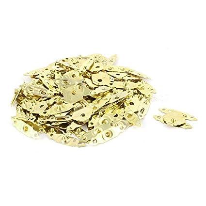 eDealMax casa de muñeca de joyería tallada antigüedad mini gancho caja de la aleación de oro