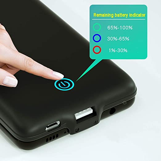 Pink 7000mAh Rechargeable Backup Charger Shock Absorption Heavy Duty Battery Case OIFEN Samsung Galaxy Note 10 Plus Battery Case