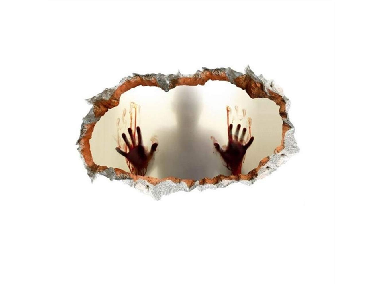 Hezon Happy Festival New Halloween 3D Horror Wall Mirror Window Stickers Removable by Hezon (Image #4)