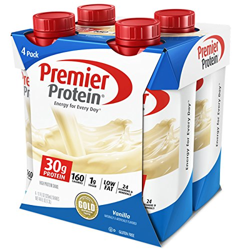 Premier Protein 30G Protein Shakes  Vanilla  11 Fluid Ounces  Pack Of 4