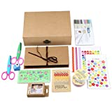 Gotideal DIY Scrapbook Album Craft Paper Wedding and Anniversary Photo Album Family Scrapbook with Photo Album Storage Box , DIY Accessories Kit and Scrapbooking Supplies (Pure)
