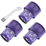Lemige Filter Replacements Kit Compatible with Dyson V10 SV12 Cyclone Animal Absolute Total Clean Vacuum Cleaner, Washable Replacement HEPA Filter, Compare to Part # 969082-01(3 Pack)