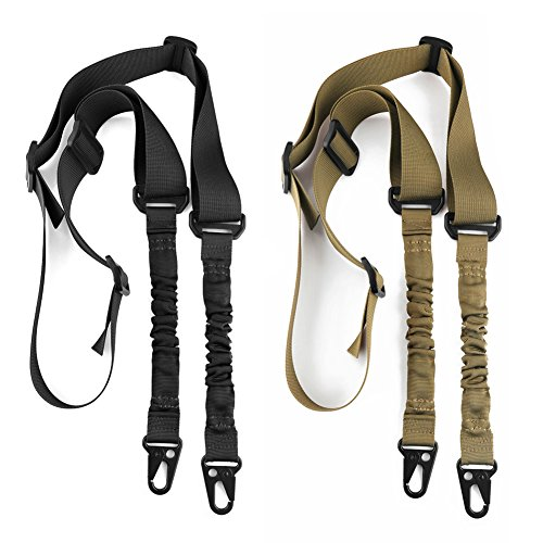 accmor 2 Point Rifle Sling, 2 Pack Multi-Use 2 Point Sling with Length Adjuster for Hunting, Shooting