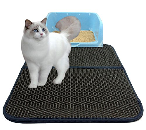 Cat Kitty Litter Trapper Pet Water-Proof Mat – Double-Layer Litter Pad Light Weight Anti-Water Anti-Scrathing Cat Dog…