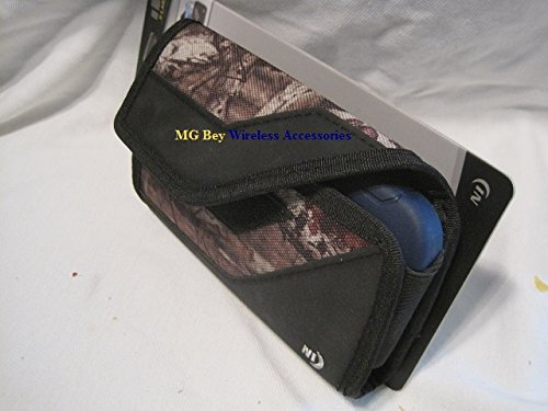 Nite Ize Black/Camouflage Mossy Oak Sideways Horizontal Rugged Heavy Duty X-large Holster Pouch / Cover Case W/Durable Fixed Belt Clip Fits Samsung Galaxy S8 /G950 Cellphone