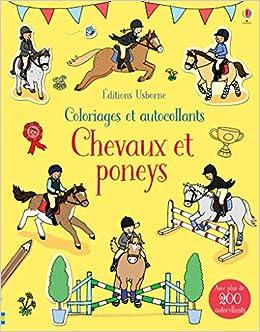 Coloriage Cheval Concours.Chevaux Et Poneys Coloriages Et Autocollants Amazon Fr