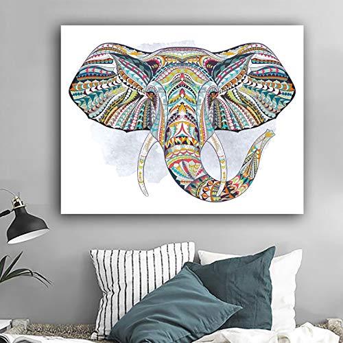 ganlanshu Pintura sin Marco Carteles e Impresiones de Animales Elefantes Cuadros Modernos de Pared de Lienzo para Sala de Estar abstraccionZGQ5675 40X50cm