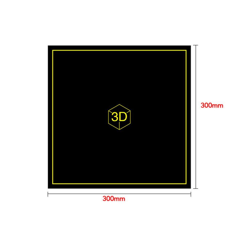 placa flexible para impresora CR-10 3D Adhesivo magn/ético para impresi/ón de cama ETbotu 300 x 300 mm