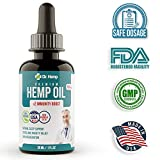 #9: Hemp Oil Extract - 500 mg - Reduce Stress, Anxiety and Pain - Mood and Sleep Supplement - Pure Herbal Drops - Rich in MCT Fatty Acids - Made in USA