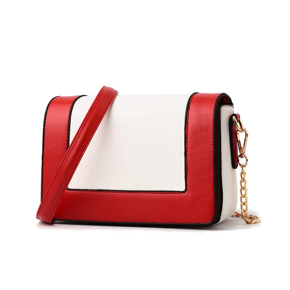 5d6c2744390d Amazon.com: Cujubag Ladies Messenger Bag Leather Chain Shoulder Bags ...
