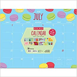 tf publishing 19 8024a july 2018 june 2019 monthly theme desk pad calendar 22 x 17 multi colored