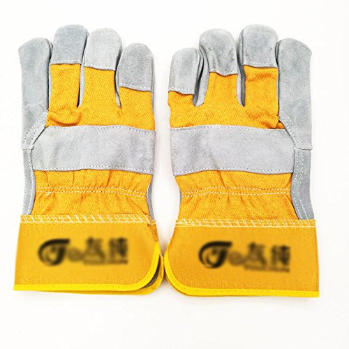 ZXCVBNM Fire Line Welder Gloves/Wear-Resistant Soldadoras De Soldadura De Alta Temperatura Guantes De Soldadura,Yellow: Amazon.es: Deportes y aire libre