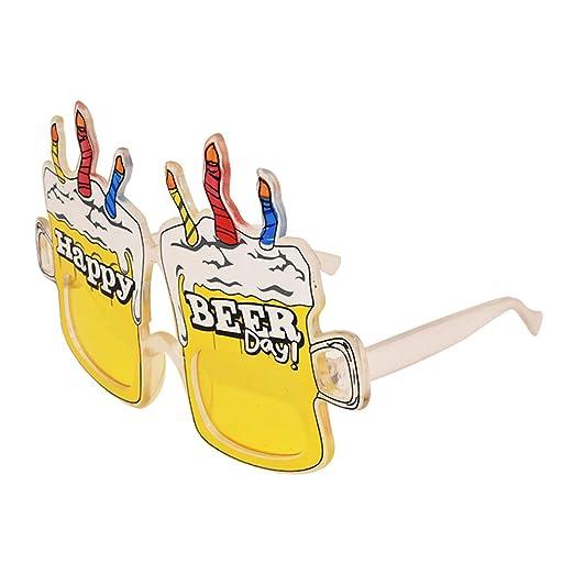 BESTOYARD Happy Birthday Candle Gafas de Sol Novedad para ...