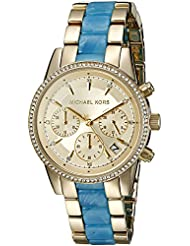 Michael Kors Womens Ritz Gold-Tone Watch MK6328