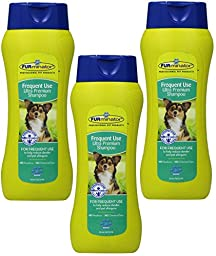 (3 Pack) FURminator Frequent Use Ultra Premium Shampoo, 16 Ounces each
