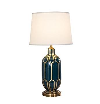 YLT-NYQ Lámpara de Mesa de cerámica - Estilo Americano ...