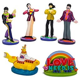 Penn-Plax 6 Piece The Beatles Submarine Assortment, Yellow